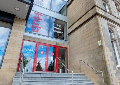 Main Entrance on Weir Street