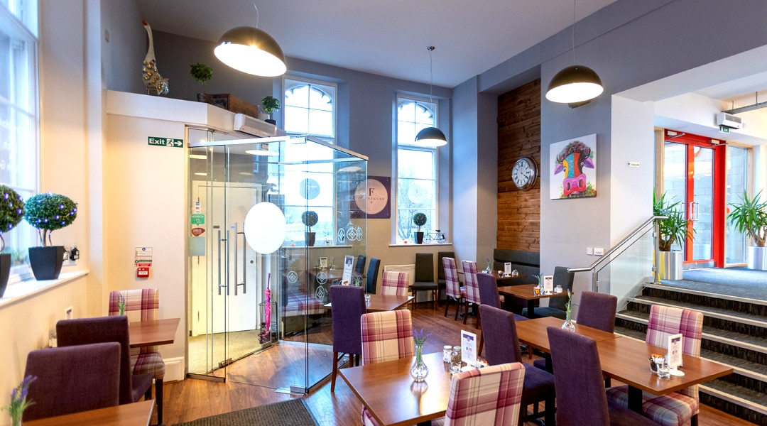 Finnegans Café at Falkirk Business Hub serves quality, affordable breakfasts, paninis, sandwiches, lunches and great tasting Puro coffee in comfortable surroundings or on the go.